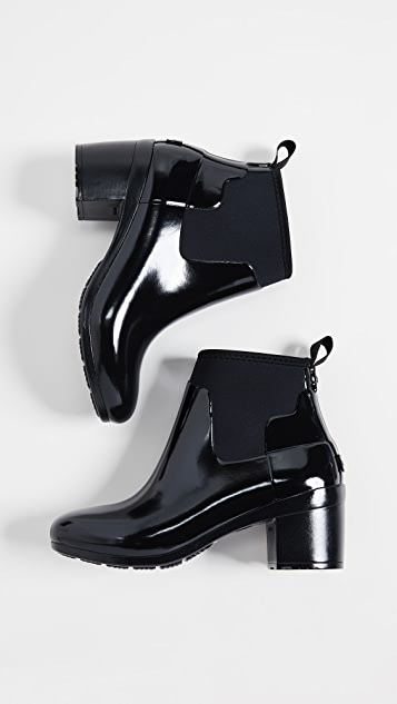 d4b5537c1e5 ... Hunter Boots Refined Mid Gloss Ankle Boots ...