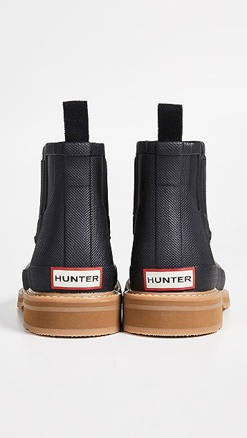 Hunter Boots Lightweight Mocc Toe Short Boots