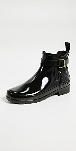 Hunter Boots - Refined Gloss Quilt Chelsea Boots