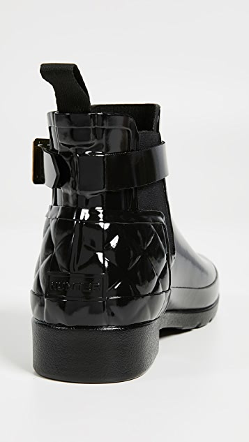 Hunter Boots Refined Gloss Quilt Chelsea Boots