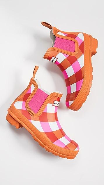 Hunter Boots Ботинки челси Original в клетку гингем
