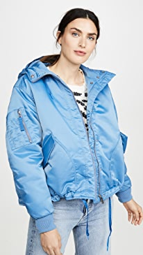 Refined Insulated Drawstring Bomber