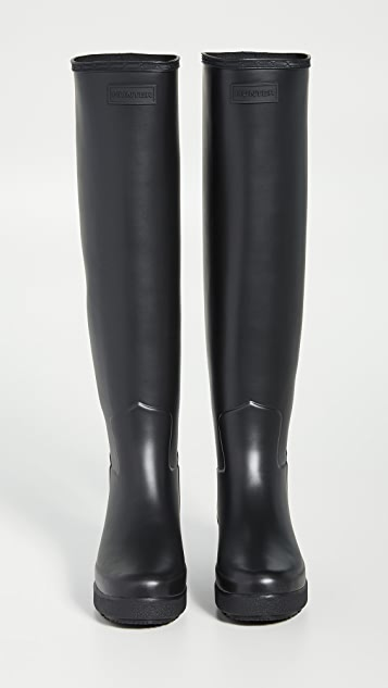 Hunter Boots Refined Creeper Tall Boots
