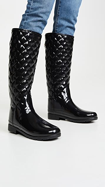Hunter Boots Refined Quilted Tall Gloss Boots