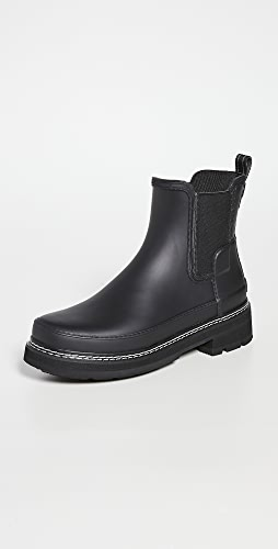 Hunter Boots - Refined Chelsea Stitch Detail Wellington Boots