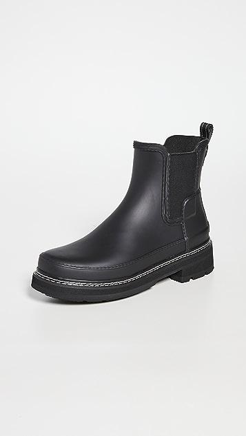 Hunter Boots 精致切尔西缝线细节威灵顿靴