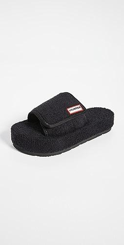 Hunter Boots - 毛圈布海滩凉拖鞋