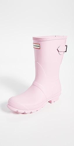 Hunter Boots - Original Back Adjustable Matte Short Boots