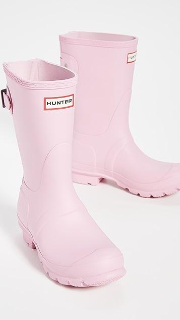 Hunter Boots 原创版背面可调节哑光短靴