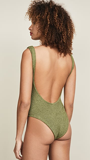 Hunza G Square Neck One Piece Swimsuit
