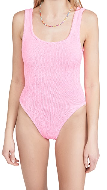 Hunza G 方领泳衣