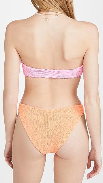Hunza G Jean Two Tone Bikini Set