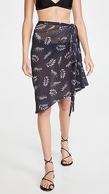HVN Mesh Wrap Skirt