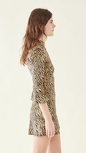 HVN Mini Ashley Bell Sleeve Dress