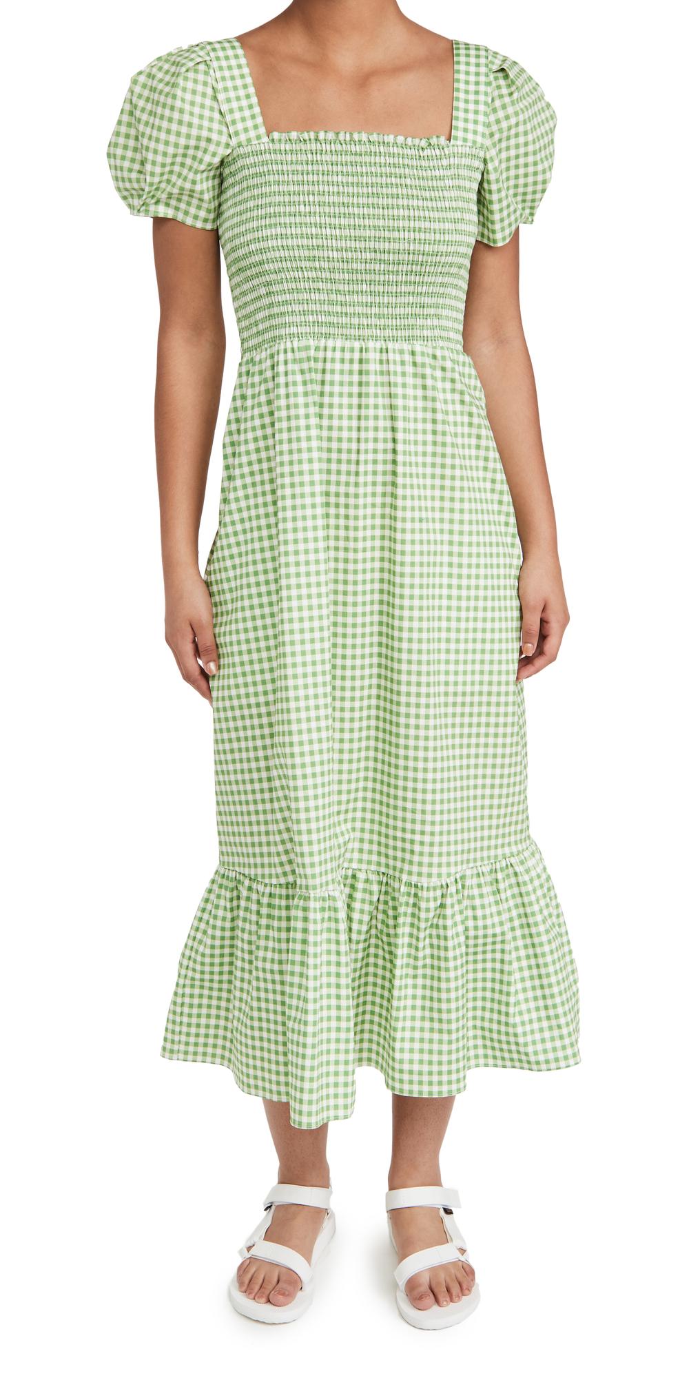 Smocked Fromer Square Neck Dress