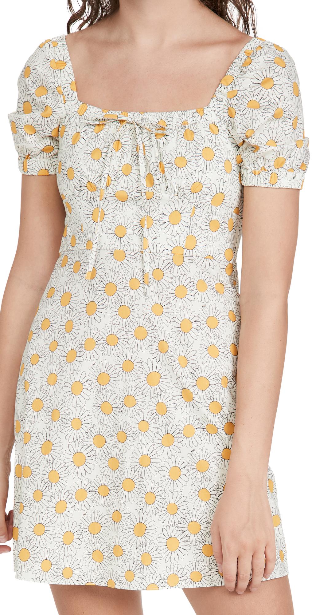 Mini Holland Bow Tie Cotton Dress