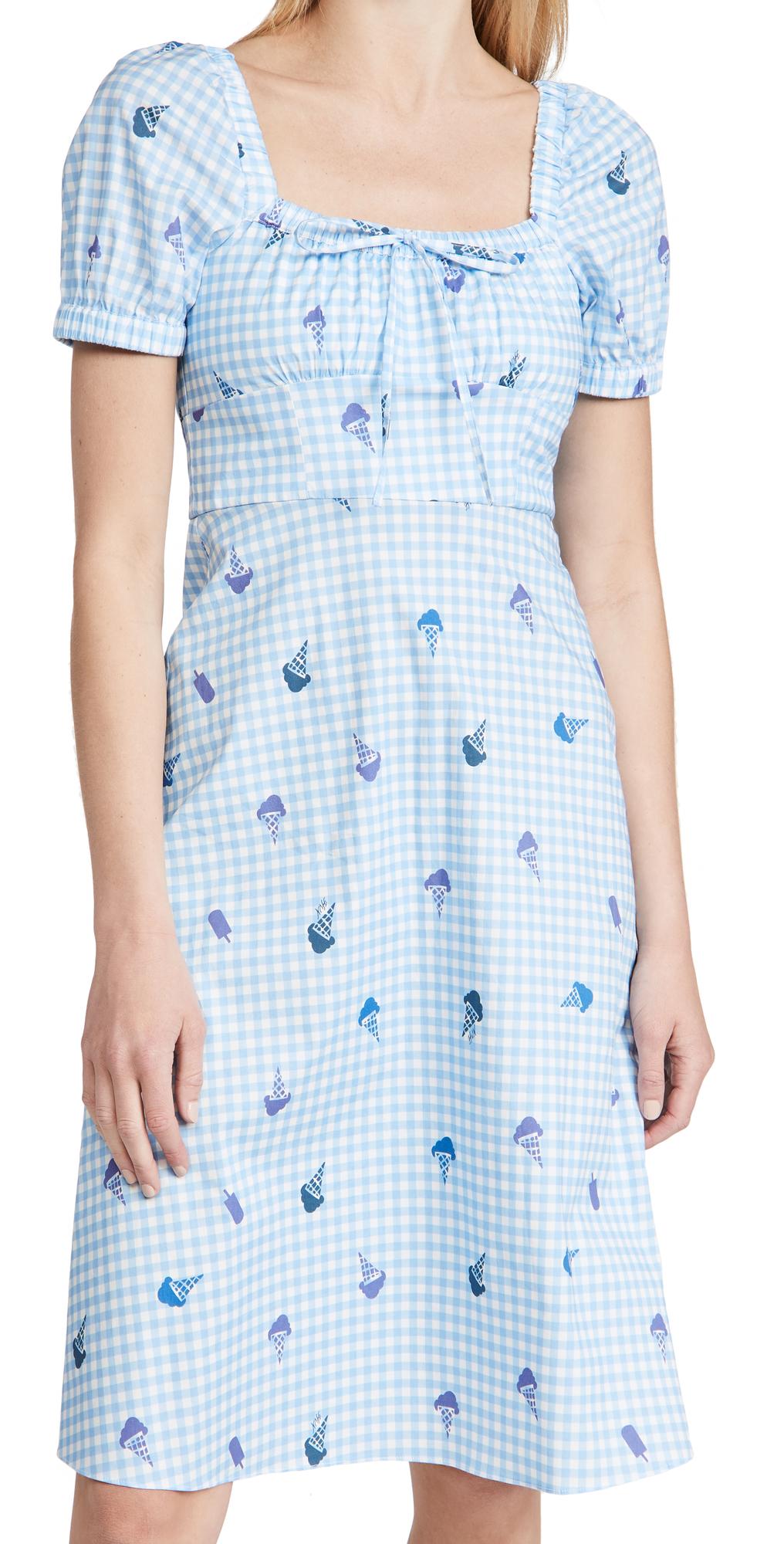 Holland Bow Tie Cotton Dress
