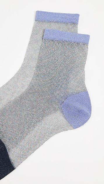 Hysteria Lurex Franca Ankle Socks