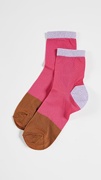 Hysteria Liza Ankle Socks - Dark Pink