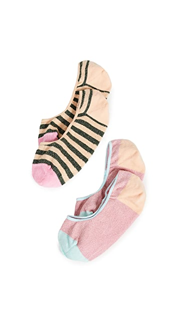Hysteria 2 Pack Claudia Invisible Socks
