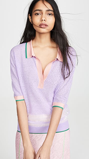 i-am-chen Рубашка-поло свободного кроя с цветными блоками