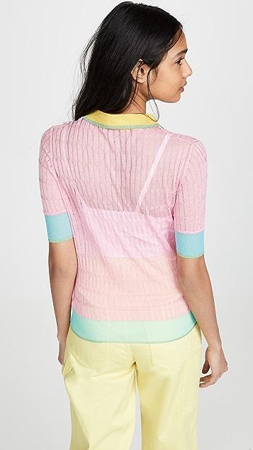 i-am-chen Colorblock Polo Sweater