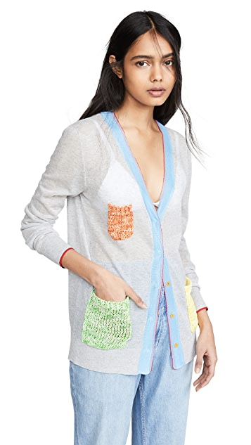 i-am-chen Crochet Pocket Cardigan