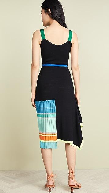 i-am-chen Colorblock Stripe Dress