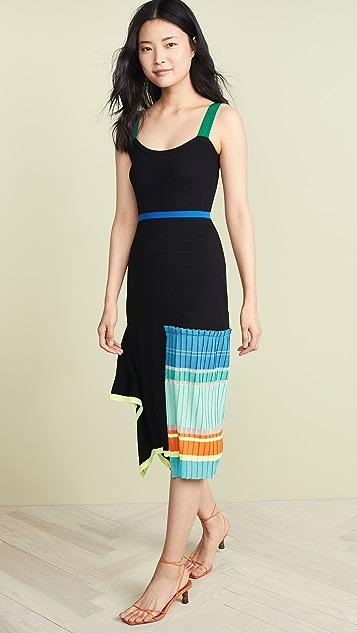i-am-chen 拼色条纹连衣裙