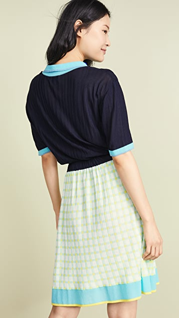 i-am-chen Collared Knit Dress