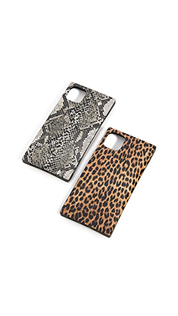 iDecoz 2 Piece Animal Print iPhone Case Bundle