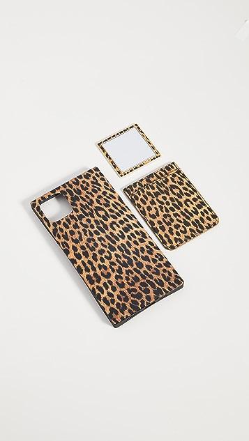 iDecoz 3 Piece Leopard Ensemble iPhone Accessories