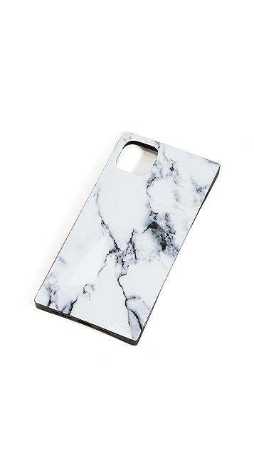 iDecoz 3 件式白色大理石纹 iPhone 配饰