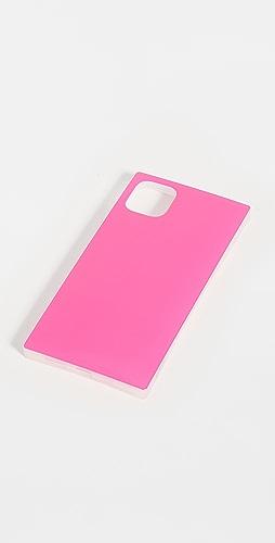 iDecoz - 3 件装荧光粉色炫光 iPhone 配饰
