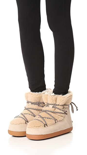 INUIKII Curly Shearling Booties