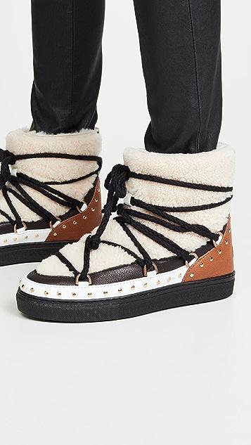 Inuikii Curly Rock Shearling Sneaker Boots