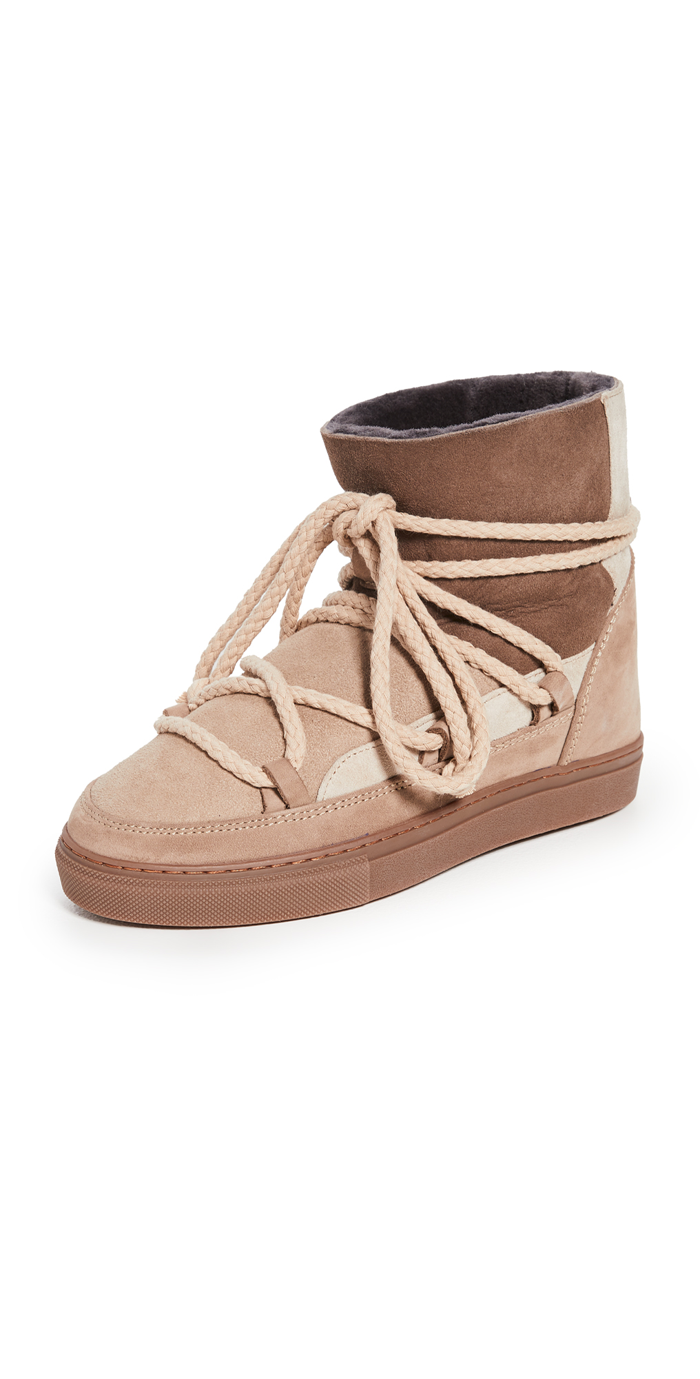 Patchwork Shearling Sneakers