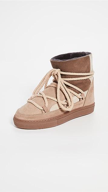 Inuikii 拼接连毛羊皮运动鞋
