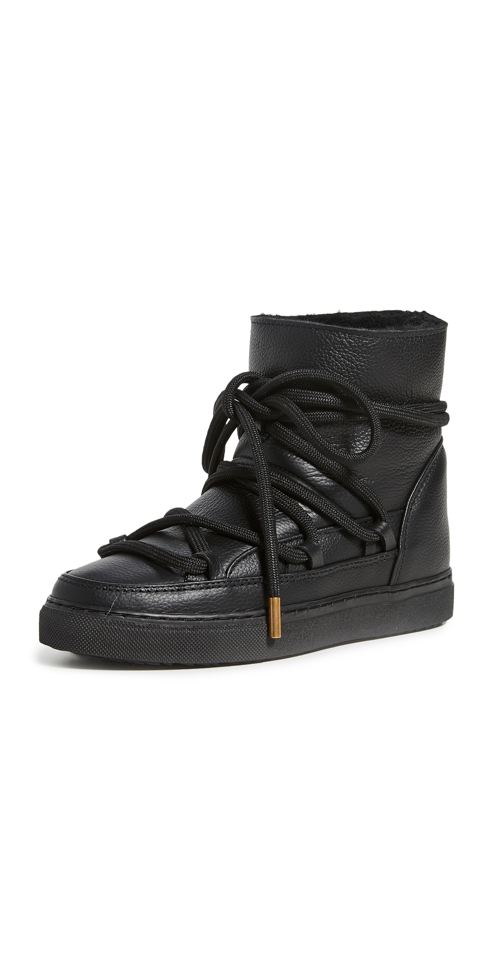 Full Leather Shearling Sneakers