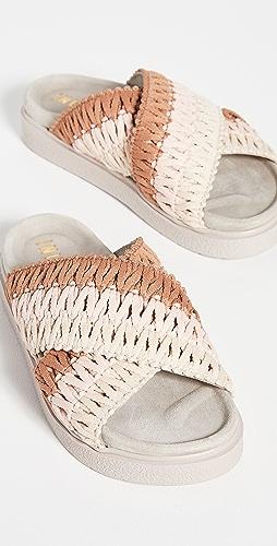 Inuikii - 针织交叠凉拖鞋