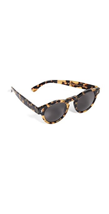 Illesteva Leonard Sunglasses - Tortoise/Grey