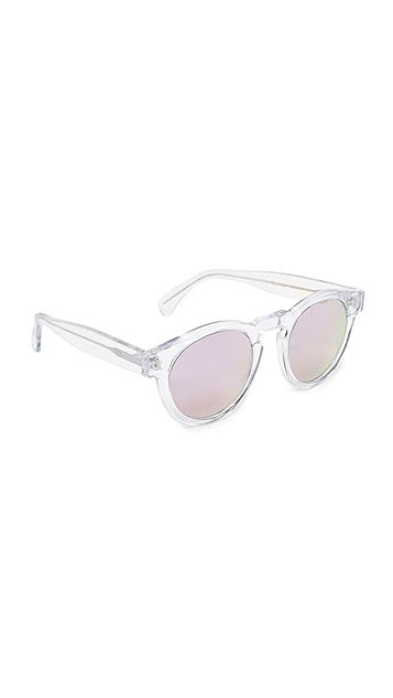 Illesteva Limited Editon Leonard Mirrored Sunglasses