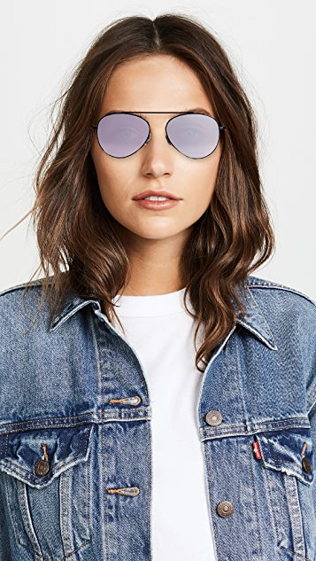 Illesteva Dorchester Mirrored Sunglasses