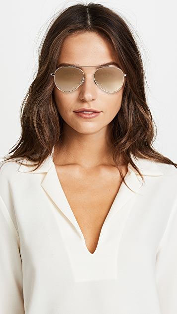 Illesteva Dorchester Gradient Mirrored Sunglasses