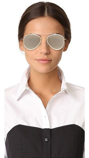 Illesteva Dorchester Ace Mirrored Sunglasses