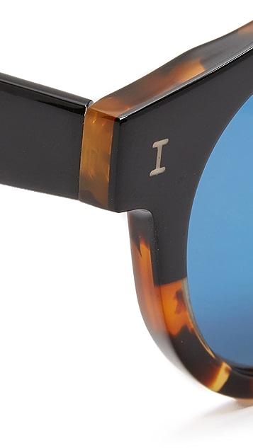 Illesteva Leonard Half & Half Mirrored Sunglasses