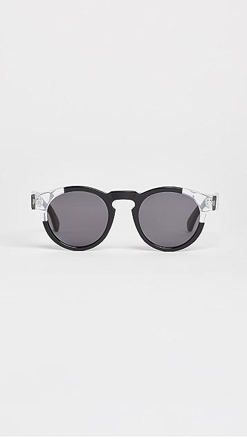 Illesteva Leonard Split Frame Sunglasses