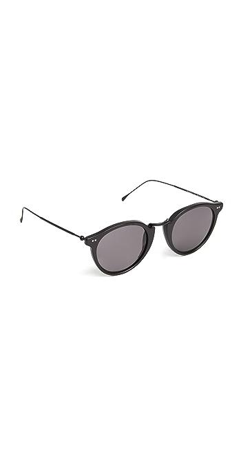 Illesteva Portofino Sunglasses - Matte Black/Grey
