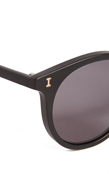 Illesteva Sterling Matte Black Sunglasses