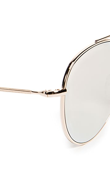 Illesteva Dorchester Gold Sunglasses